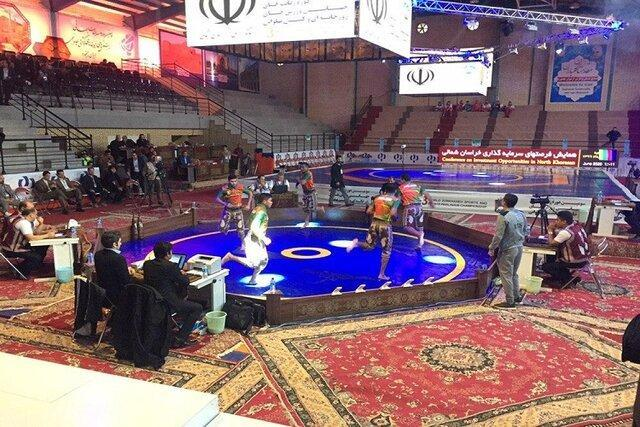 قهرمانی ایران و عراق در مسابقات میل گیری و کباده