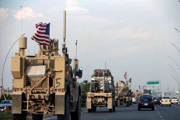 سومین کاروان لجستیک نظامیان تروریست آمریکایی نیز هدف نهاده شد